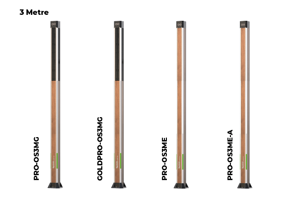 OIS Pro and Gold Series Lighting Pole 3 Meters