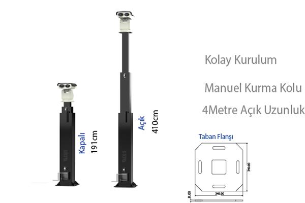OIS XTR 4M Teleskopik Mast